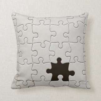 One Missing Puzzle Piece Throw Pillow