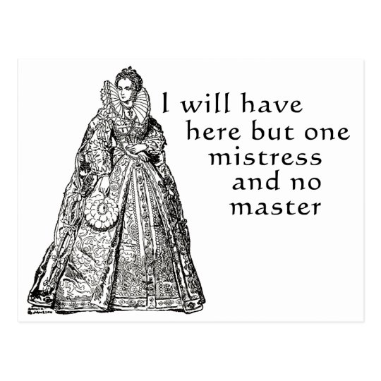 One Mistress Here Postcard