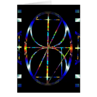 One Moment ~ Cosmic Egg Fractal Mandala Card