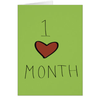 One Month Anniversary Card