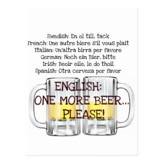 ONE MORE BEER, PLEASE fun beer print Postcard