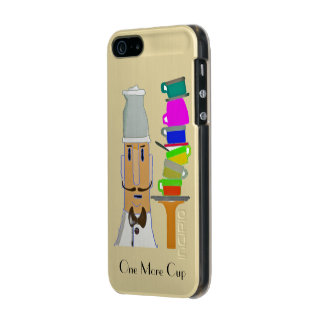One More Cup - Customizable Metallic iPhone SE/5/5s Case