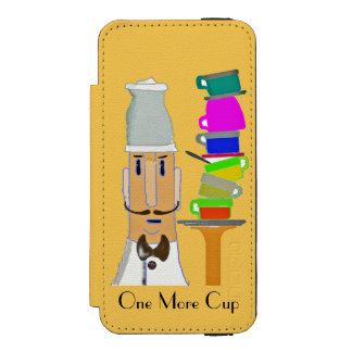 One More Cup - Customizable Wallet Case For iPhone SE/5/5s