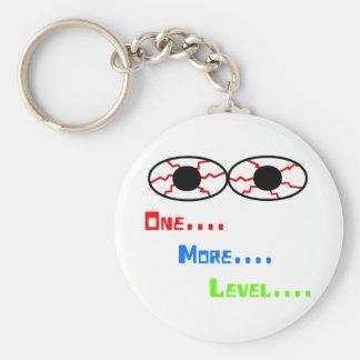 One... More... Level... - Bloodshot Eyes Basic Round Button Keychain