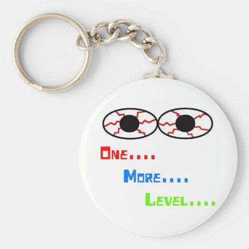 One... More... Level... - Bloodshot Eyes Key Chain