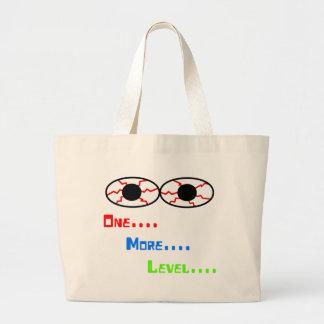 One... More... Level... - Bloodshot Eyes Large Tote Bag