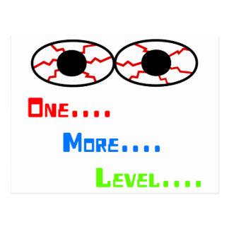 One... More... Level... - Bloodshot Eyes Postcard