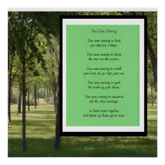 One More Morning Poetry Poster