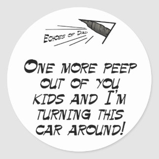 One more peep classic round sticker