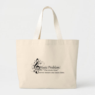 """""""One more time"""" never means one more time. Large Tote Bag"""