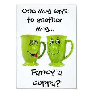 One mug says to another mug... invite