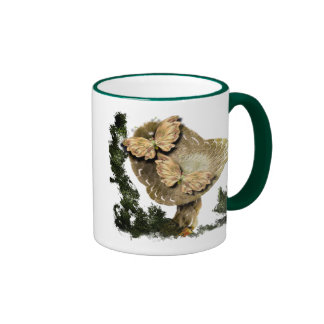 One Mushroom And Two Butterflies Mugs