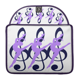 One music note and abstract modern art dancer MacBook pro sleeve