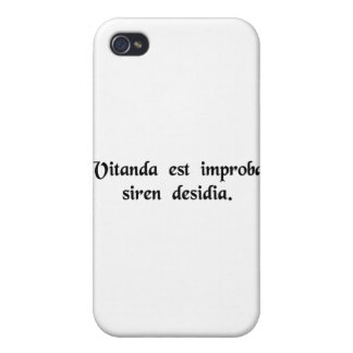 One must avoid that wicked temptress, Laziness. iPhone 4 Cover