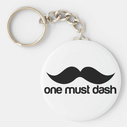 ONE MUST DASH (MOUSTACHE) KEYCHAIN