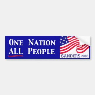 One Nation, All People Car Bumper Sticker