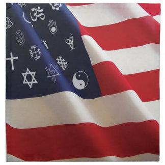 One Nation Many Gods Cloth Napkin
