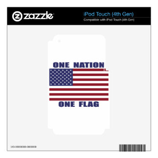 One Nation One Flag iPod Touch 4G Decals