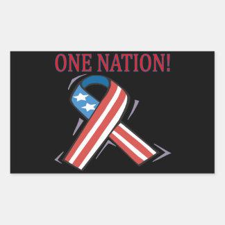 One Nation Rectangular Sticker