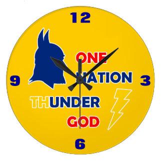 One Nation Thunder God Wall Clocks