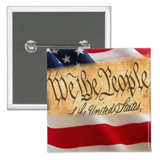 One Nation Under God 2 Inch Square Button