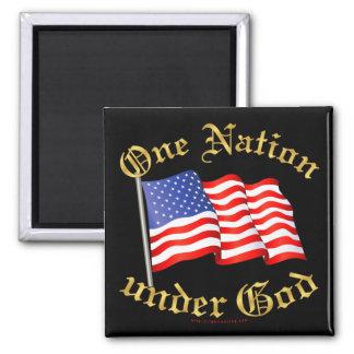 One Nation Under God 2 Inch Square Magnet