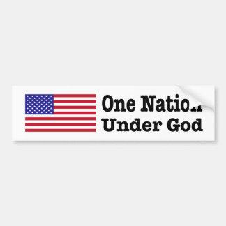 """""""ONE NATION UNDER GOD"""" BUMPER STICKER"""