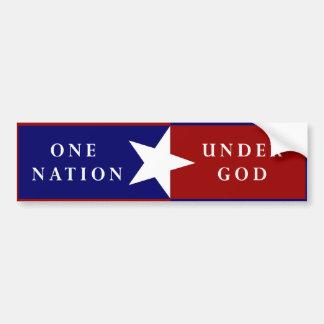 One Nation Under God bumpersticker Bumper Sticker