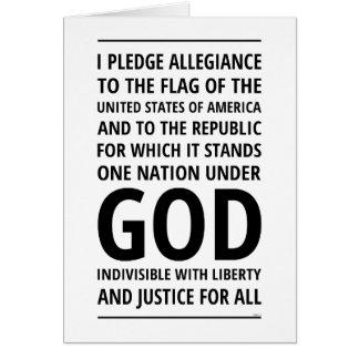 One Nation Under God Card
