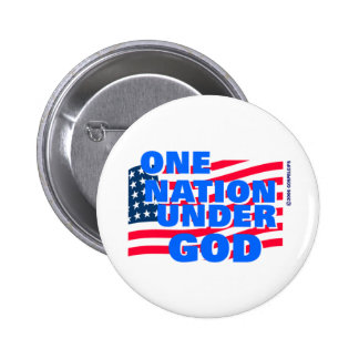 One Nation Under God christian gift Pinback Button
