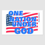 One Nation Under God christian gift Rectangular Stickers