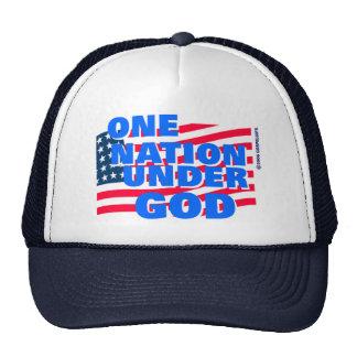 One Nation Under God christian gift Trucker Hat