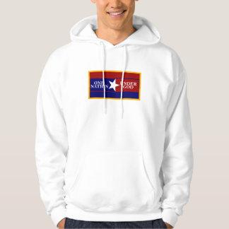 One Nation Under God (gold border) hoodie
