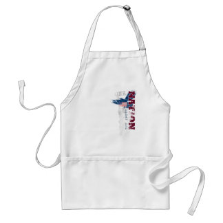 One Nation Under God Grunge Style Grill Apron