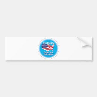 One nation under God. Indivisible Bumper Sticker