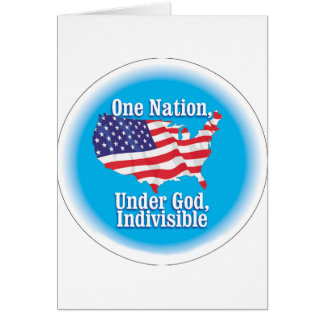 One nation under God. Indivisible Card