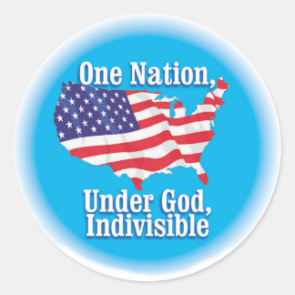 One nation under God. Indivisible Classic Round Sticker
