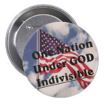 One Nation under GOD Indivisible Pinback Button