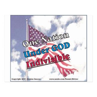 One Nation under God, indivisible Postcard