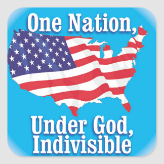 One nation under God. Indivisible Square Sticker