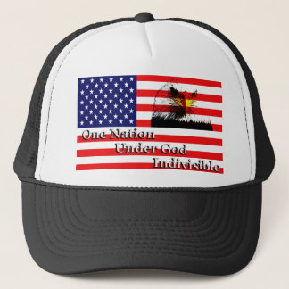 One Nation, Under God, Indivisible Trucker Hat