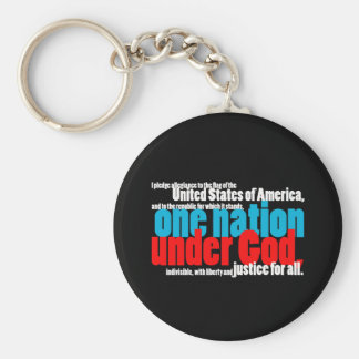 One Nation Under God Keychain