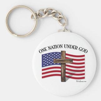 One Nation Under God Keychain