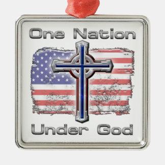 One Nation Under God Metal Ornament