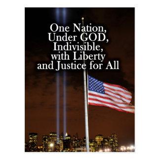 One Nation Under God Patriot Day 9/11 Patriotic Post Cards