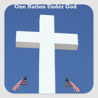 One Nation Under God! Stickers