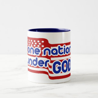 One Nation Under GOD Two-Tone Coffee Mug