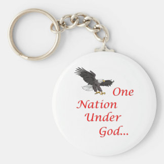 One Nation Under God... with Eagle Keychain