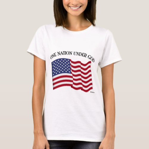 One Nation Under God with US flag T-Shirt