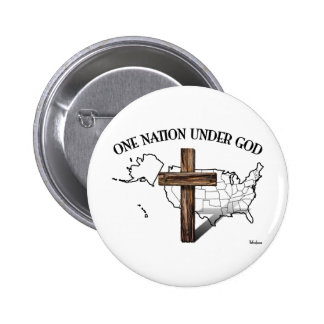 One Nation Under God with US outline Button